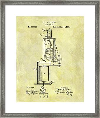 1881 Beer Cooler Patent Framed Print by Dan Sproul