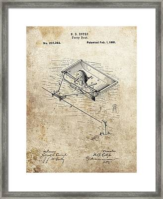 1881 Ferry Boat Patent Framed Print by Dan Sproul
