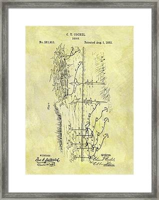 1882 Hunting Decoy Patent Framed Print by Dan Sproul