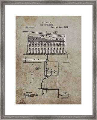 1884 Bottling Machine Patent Framed Print by Dan Sproul