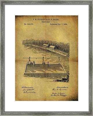 1884 Ferry Boat Patent Framed Print by Dan Sproul