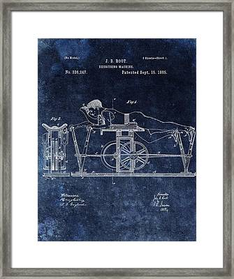 1885 Exercise Machine Patent Framed Print by Dan Sproul