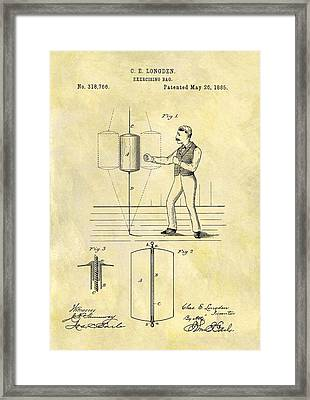 1885 Punching Bag Patent Framed Print by Dan Sproul