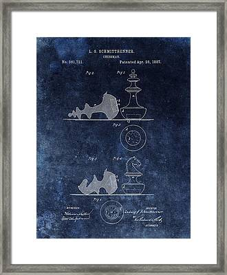 1887 Chessman Patent Framed Print by Dan Sproul