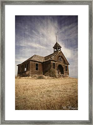 1890 School House Framed Print by Melisa Meyers