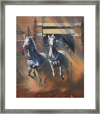 1890's First Responders Framed Print by Mia DeLode