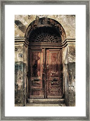 1891 Door Cyprus Framed Print by Stelios Kleanthous