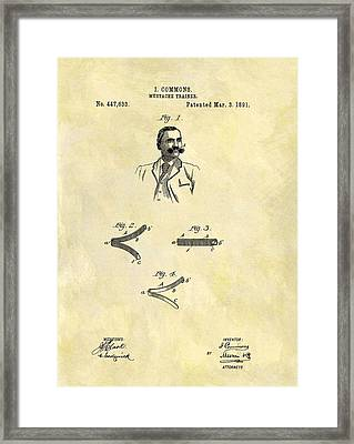 1891 Mustache Trainer Framed Print by Dan Sproul