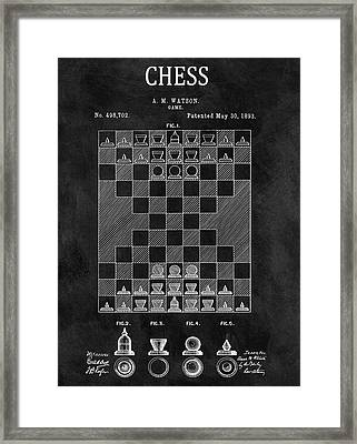 1893 Strategy Game Chess Patent Framed Print by Dan Sproul