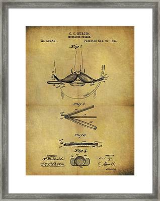 1894 Mustache Curler Patent Framed Print by Dan Sproul