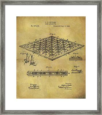 1896 Chess Set Patent Framed Print by Dan Sproul