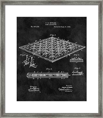 1896 Chessboard Patent Framed Print by Dan Sproul