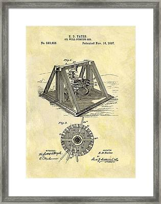 1897 Oil Rig Patent Framed Print by Dan Sproul