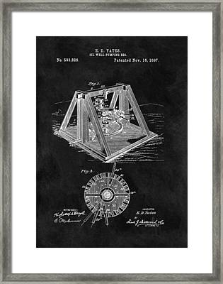 1897 Oil Well Rig Patent Design Framed Print by Dan Sproul