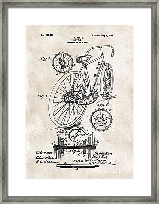 1899 Bicycle Patent Framed Print by Dan Sproul