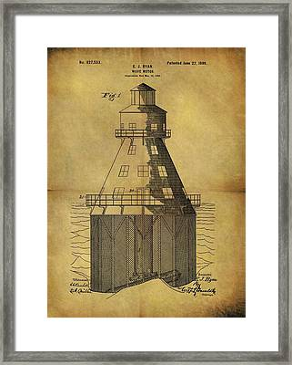 1899 Wave Motor Patent Framed Print by Dan Sproul