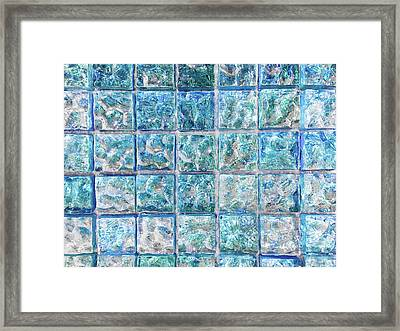 Blue Tiles Framed Print by Tom Gowanlock