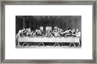 The Last Supper Framed Print by Leonardo Da Vinci