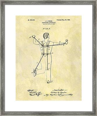 1900 Exercising Machine Patent Framed Print by Dan Sproul