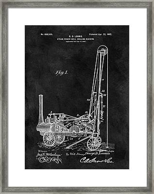 1902 Oil Well Patent Framed Print by Dan Sproul