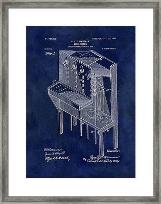 1903 Beer Cooler Patent Framed Print by Dan Sproul