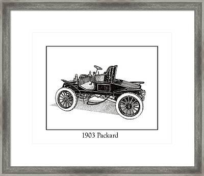 1903 Packard Framed Print by Jack Pumphrey