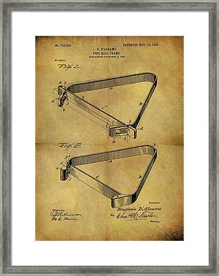 1903 Pool Rack Patent Framed Print by Dan Sproul