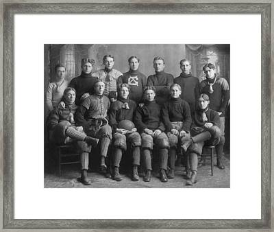 1904 Football Team Framed Print by Underwood Archives