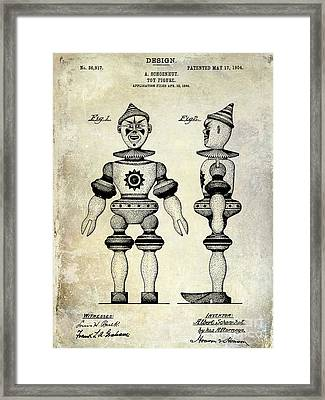 1904 Toy Patent Drawing Framed Print by Jon Neidert