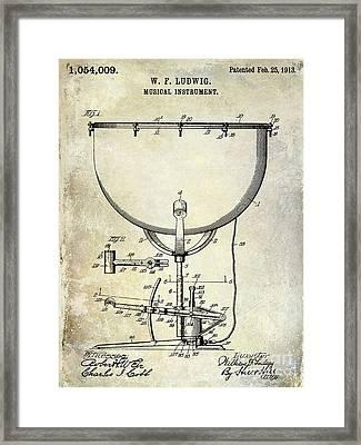 1913 Ludwig Drum Patent  Framed Print by Jon Neidert