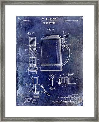1914 Beer Stein Patent Framed Print by Jon Neidert