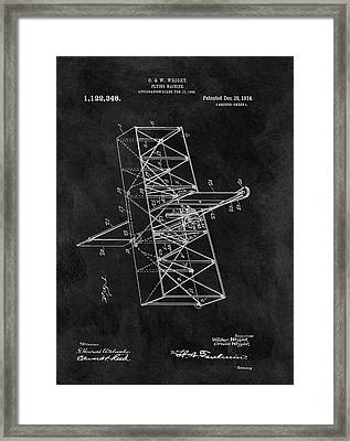 1914 Wright Brothers Airplane Framed Print by Dan Sproul