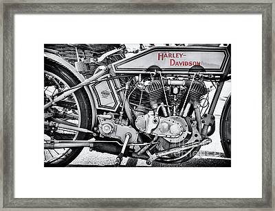 1915 Harley Davidson 11f Monochrome Framed Print by Tim Gainey