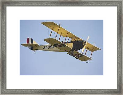 1917 Curtiss Jn-4d Jenny Flying Canvas Photo Poster Print Framed Print by Keith Webber Jr