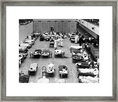 1918 Oakland Flu Hospital Framed Print by Underwood Archives