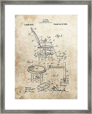 1920 Barber Chair Patent Framed Print by Dan Sproul