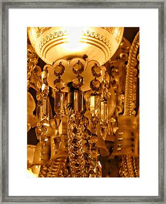 1920's Crystal  Lamp Details Framed Print by Connie Handscomb