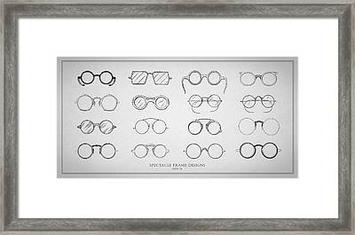 1920s Spectacle Designs Framed Print by Mark Rogan
