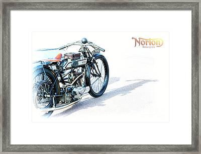 1922 Norton 16h Framed Print by Tim Gainey