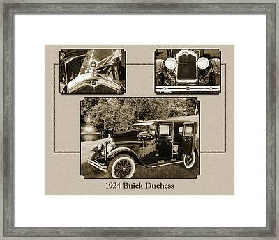1924 Buick Duchess Antique Vintage Photograph Fine Art Prints 122 Framed Print by M K  Miller