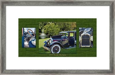 1924 Buick Duchess Antique Vintage Photograph Fine Art Prints 119    Framed Print by M K  Miller