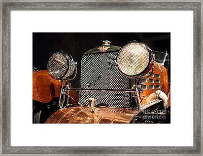 1924 Hispano Suiza Dubonnet Tulipwood . Grille Framed Print by Wingsdomain Art and Photography