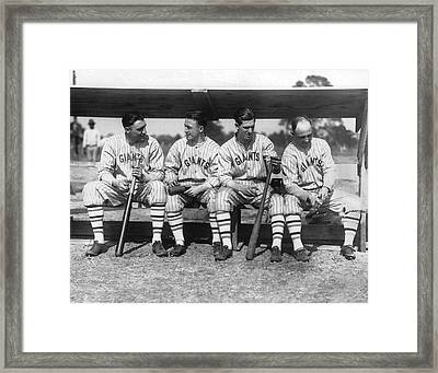 1924 Ny Giants Baseball Team Framed Print by Underwood Archives