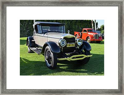 1925 Lincoln Roadster Framed Print by Bill Dutting