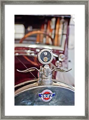 1925 Stutz Speedway Six Sportbrohm  Hood Ornament Framed Print by Jill Reger