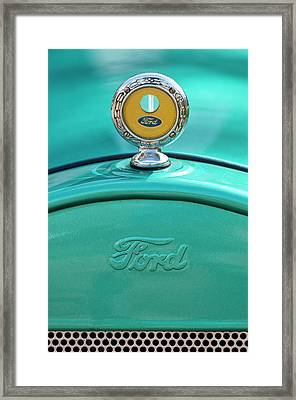 1926 Ford Coupe Hood Ornament Framed Print by Jill Reger