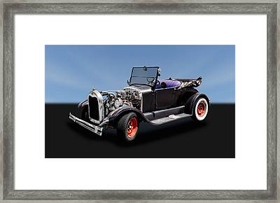 1927 Ford Model T Roadster Convertible   -   27fdmdtcv325 Framed Print by Frank J Benz