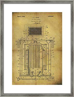 1926 Furnace Patent Framed Print by Dan Sproul