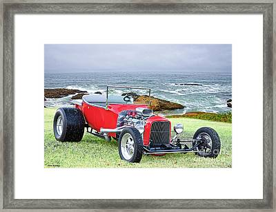 1927 Ford T Bucket Roadster 'on The Greens' Framed Print by Dave Koontz