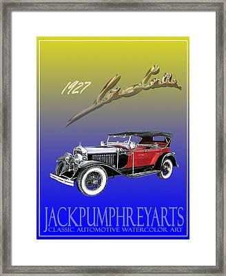 1927 Lasalle Framed Print by Jack Pumphrey